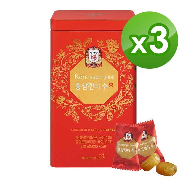 《正官庄》高麗蔘糖240gx3盒