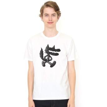 (グラニフ) graniph コラボレーション Tシャツ/やっぱりおおかみ (佐々木マキ) (ホワイト) メンズ レディース SS (g100) (g107) #おそろいコーデ