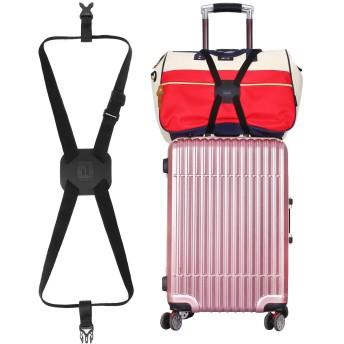 旅行便利グッズ バッグとめるベルト 便利グッズ 多用 調整可能 軽量 荷物用弾力固定ベルト ずり落ち防止 ブラックYuErJia