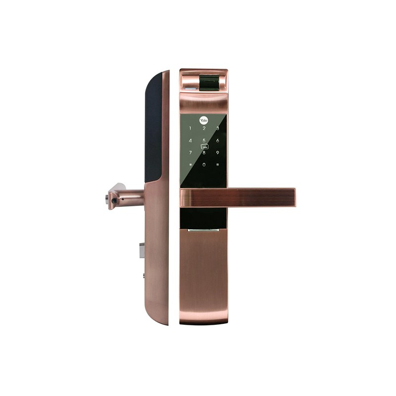 Yale 耶魯 觸控指紋 卡片 密碼 鑰匙智能電子門鎖YDM-7116