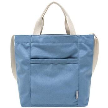キャンバスバッグレディースシンプルショルダーバッグ ハンドバッグ 斜め掛け 肩掛け 可愛い 大容量 ブルー