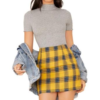 SheIn tシャツ カットソー レディース トップス スウェット フィット おしゃれ トップ 無地 カジュアル 春 夏 Lサイズ