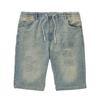 ビンテージ加工ストレッチ素材デニムショートパンツ ショート・ハーフパンツ, Pants