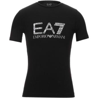《セール開催中》EA7 メンズ T シャツ ブラック XXS コットン 95% / ポリウレタン 5%