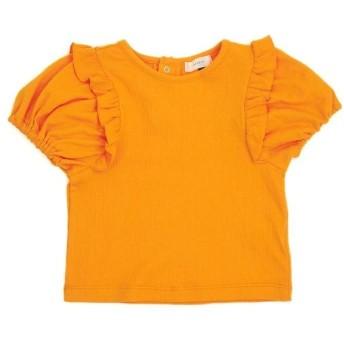 (Seraph/セラフ)フリルパフ袖Tシャツ/ オレンジ