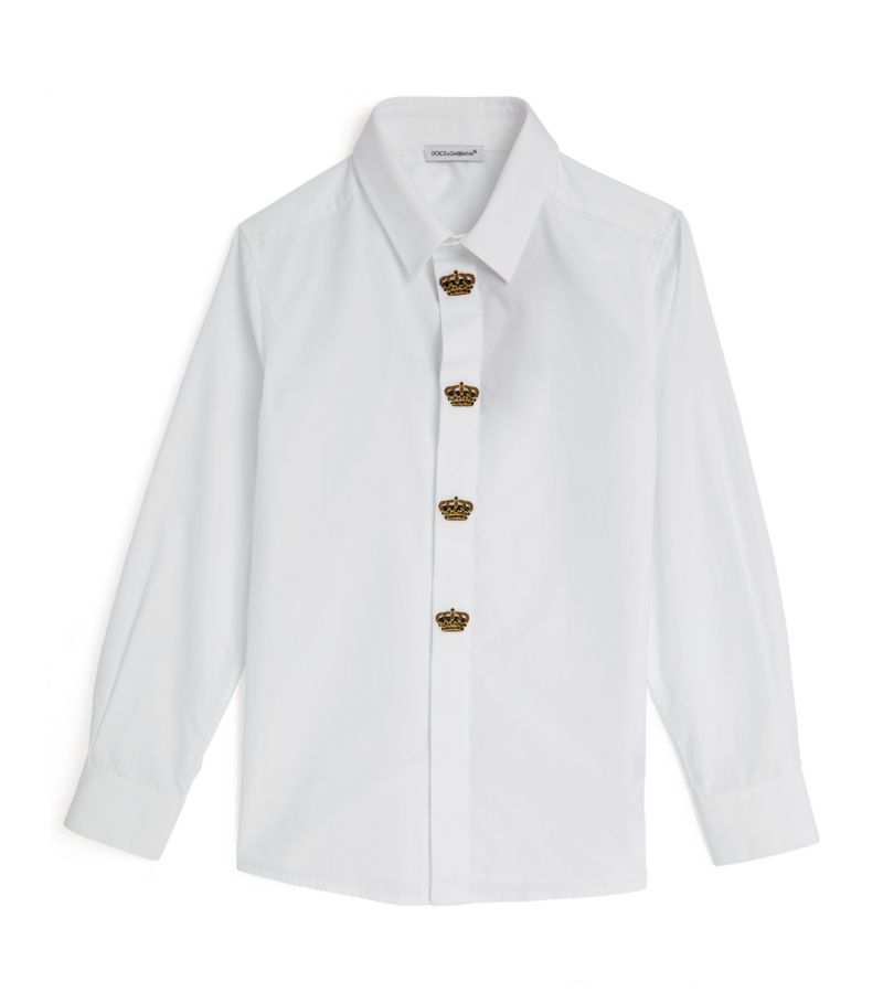 Dolce & Gabbana Kids Cotton Logo Embroidered Shirt (8-12 Years)