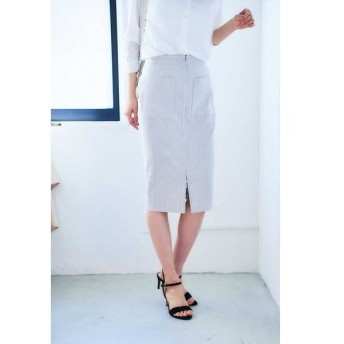 BOSCH / ボッシュ [WEB限定商品][ウォッシャブル]ストライプフロントジップスカート