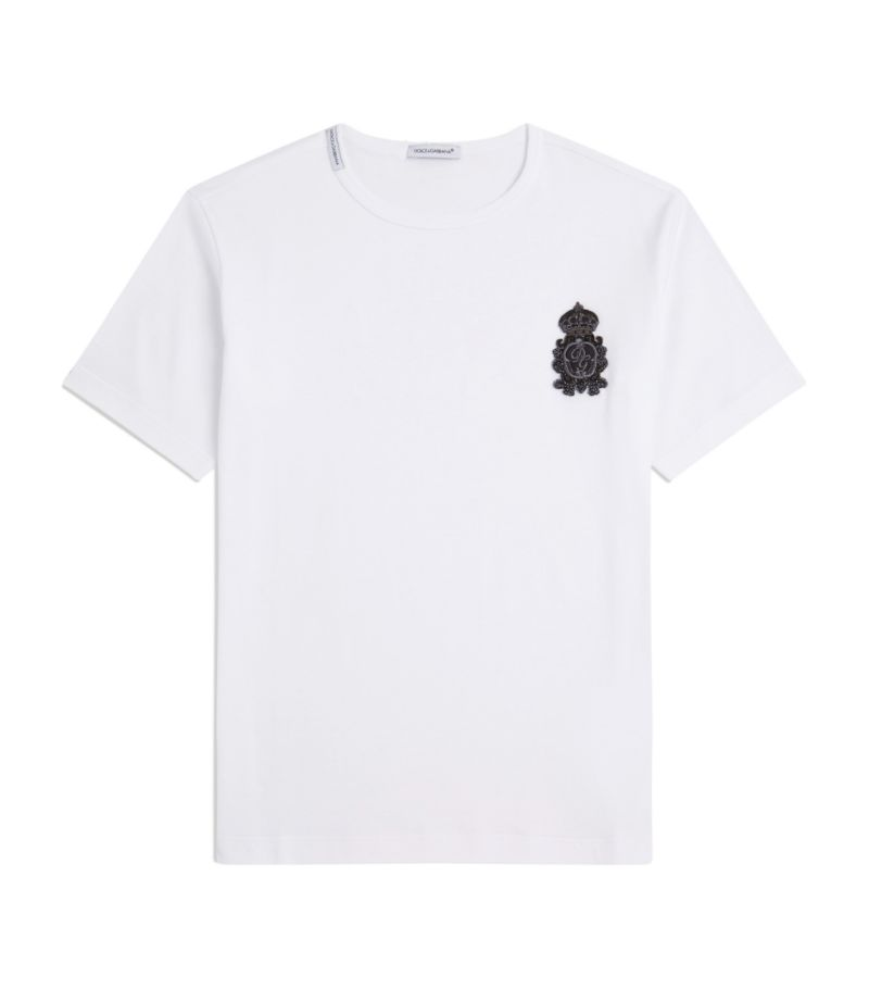 Dolce & Gabbana Kids Embroidered Badge T-Shirt (8-12 Years)
