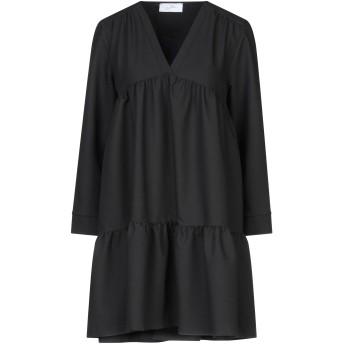 《セール開催中》SOALLURE レディース ミニワンピース&ドレス ブラック 40 ポリエステル 75% / レーヨン 23% / ポリウレタン 2%