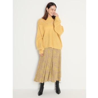 【ミラオーウェン/Mila Owen】 フラワープリントマチフレアスカート