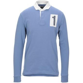 《セール開催中》HACKETT メンズ ポロシャツ ブルーグレー S コットン 100%