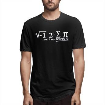 私はいくつかのPiの日を食べたそれはおいしい数学半袖Tシャツ夏服トップス男性2XL