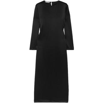 《セール開催中》LA COLLECTION レディース 7分丈ワンピース・ドレス ブラック 0 シルク 100%