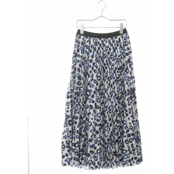 (HIROKO BIS/ヒロコビス)【洗える】ランダムドットプリーツスカート/レディース ブルー