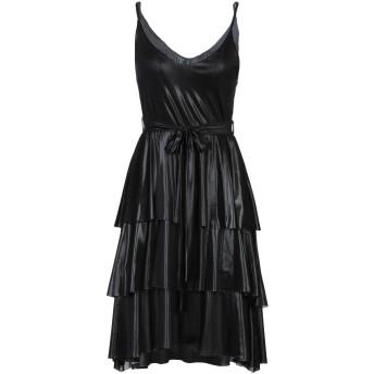 《セール開催中》VANESSA SCOTT レディース ミニワンピース&ドレス ブラック S ポリエステル 95% / ポリウレタン 5%