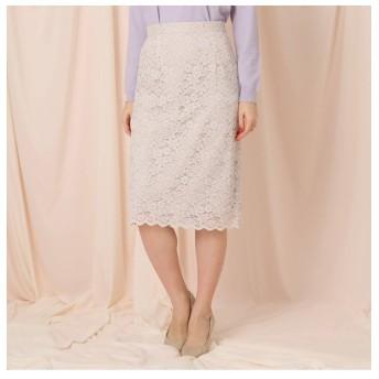 【クチュール ブローチ/Couture brooch】 【WEB限定サイズ(LL)あり】レーススカラップタイトスカート