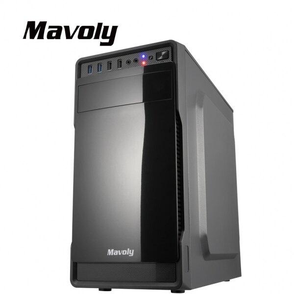 Mavoly 松聖 葡萄柚 U3*2/U2*2/1大2小/上置POW/麥克風孔/耳機孔/360mm*175mm*355mm(長寬高)/顯長320mm/黑 電腦機殼