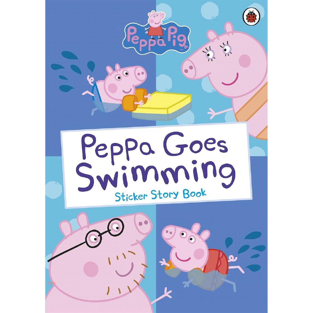 Peppa Goes Swimming Sticker Story Book (貼紙書)【三民網路書店】[79折]