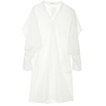 CINOH チノ レイヤードスリーブワンピースLAYERED SLEEVE DRESS ワンピース,WHITE