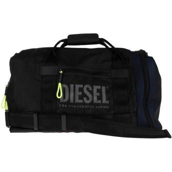 《セール開催中》DIESEL メンズ 旅行バッグ ブラック ナイロン 60% / ポリエステル 40% / 合金亜鉛 / 銅