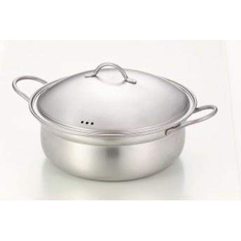 竹井器物 しゃぶしゃぶ鍋 シルバー 3.8L