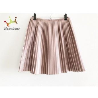 エムエスジィエム MSGM スカート サイズ40 M レディース 美品 ピンク フェイクレザー/プリーツ 新着 20200228