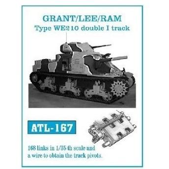 フリウルモデル 1/35 金属製可動履帯シリーズ 第二次世界大戦 イギリス グラント/リー/ラム WE210 ATL-167 プラモ