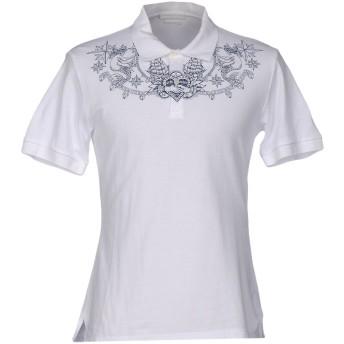 《セール開催中》ALEXANDER MCQUEEN メンズ ポロシャツ ホワイト S コットン 100%