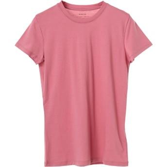 Vince ピマコットン コンパクトジャージ 半袖 クルーネックTシャツ Tシャツ・カットソー,ローズ