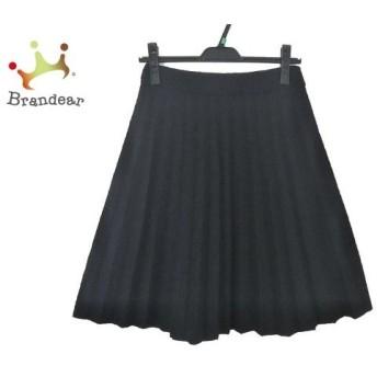 エンポリオアルマーニ EMPORIOARMANI スカート レディース 美品 黒 プリーツ 新着 20200228