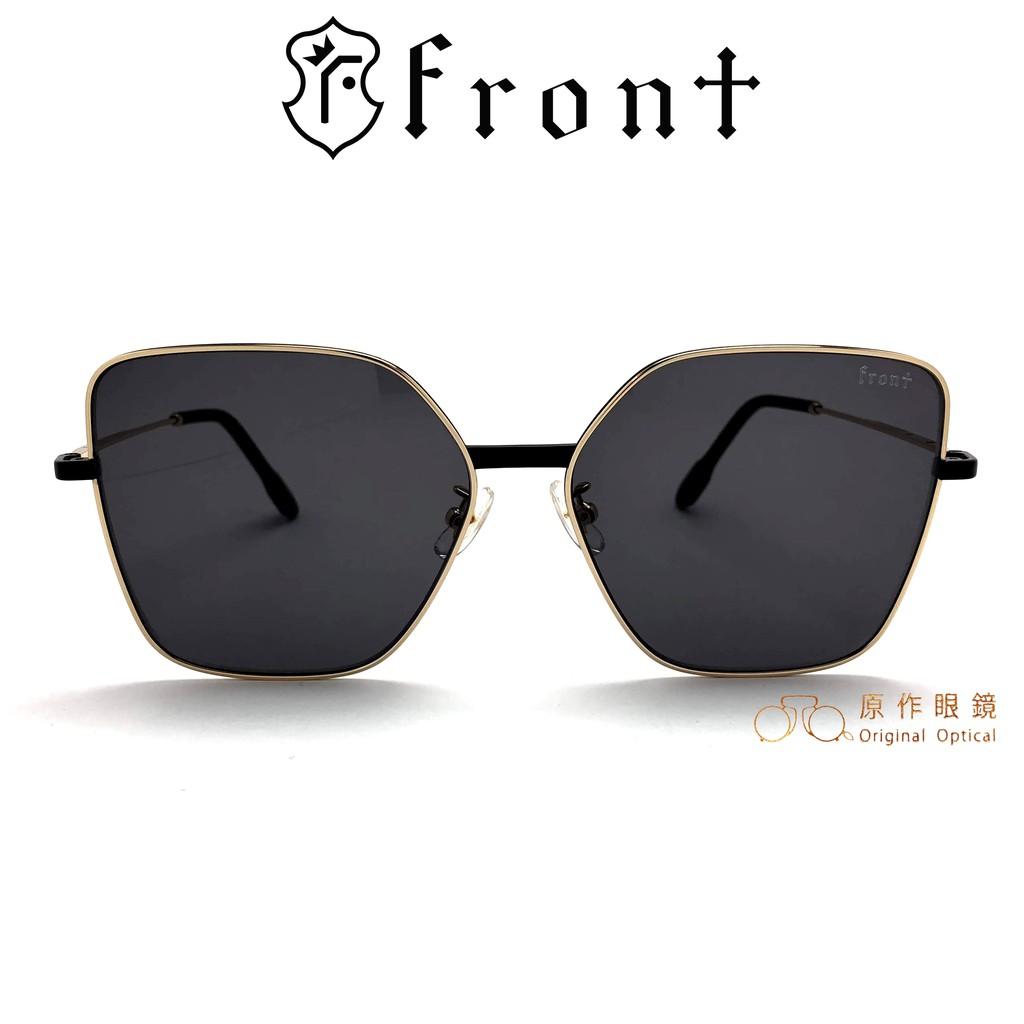 Front 太陽眼鏡 Juice Gdbk09 (金/黑) 灰色鏡片 韓系潮流 墨鏡【原作眼鏡】