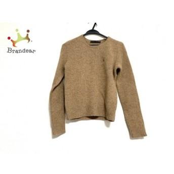 ラルフローレン RalphLauren 長袖セーター サイズL レディース 美品 ライトブラウン 新着 20200228