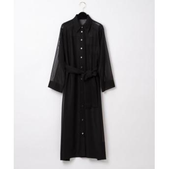 GRACE CONTINENTAL/グレースコンチネンタル トリアセオーガンドレス ブラック 36