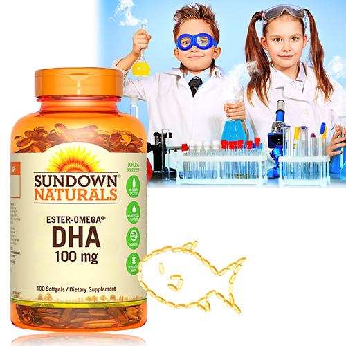 兒童精明鮪魚油DHA軟膠囊(100粒/瓶)【Sundown日落恩賜】商品有效期限-2022/11月底