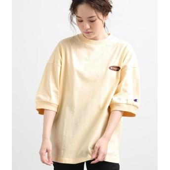 ビス/【WEB限定】【チャンピオン】ロゴビッグTシャツ/キナリ/L