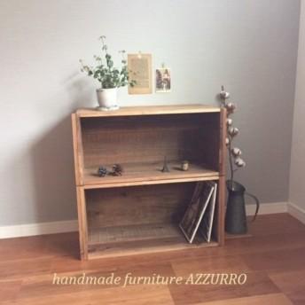 アンティーク風 木箱単品 BOX リンゴ箱/ラック/収納