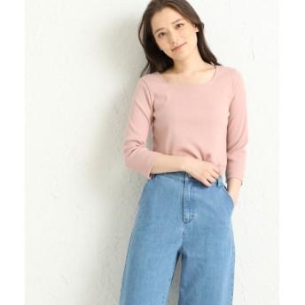 (Honeys/ハニーズ)スクエアネックTシャツ/レディース ピンク