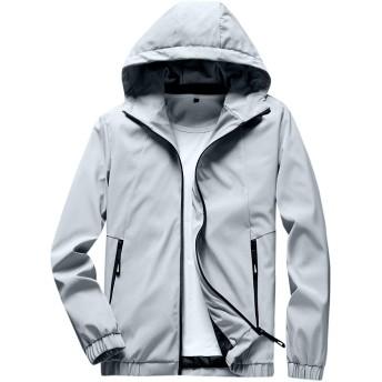 FOMANSH ジャケット メンズ ジャンパー ウインドブレーカー ブルゾン フード付き カジュアル 春秋 アウター