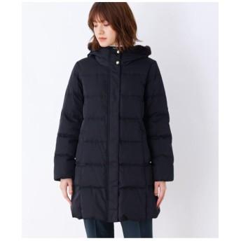 【S-3Lまで】襟ファー付きロングダウンコート
