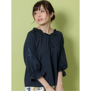 【Rewde】袖刺繍入りブラウス(9R13-03059)