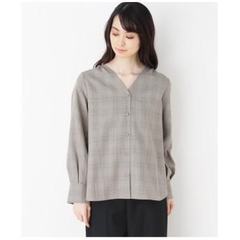 【洗える・42(LL)WEB限定サイズ】Vネックシャツ