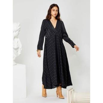 Plinth Midi Wrap Dress