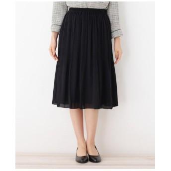 【ママスーツ/入卒/WEB限定サイズあり】ジョーゼットAラインプリーツスカート