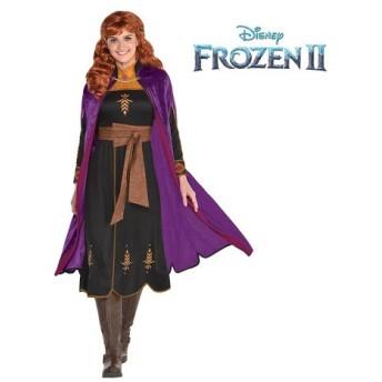 アナと雪の女王2 アナ コスプレ 大人 コスチューム ウィッグ付き ハロウィン 衣装 ディズニー 仮装