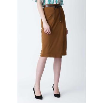 [ウォッシャブル]ベルト付きセットアップスカート