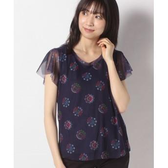 デシグアル Tシャツ半袖 VARSOVIA レディース ブルー系 S 【Desigual】