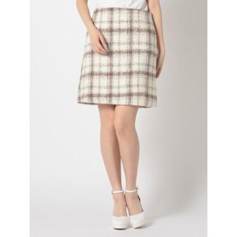 チェク柄ミニ台形スカート