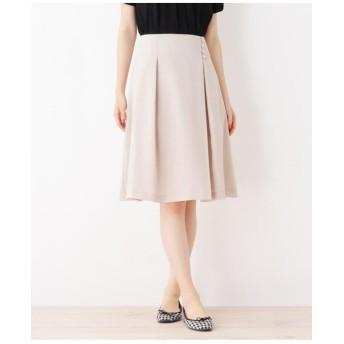 【洗える・42(LL)WEB限定サイズ】タックデザインスカート