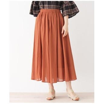 ボイルカラーギャザースカート
