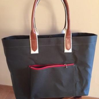 【売り切れ】防水LLサイズ国防色帆布トートバッグ
